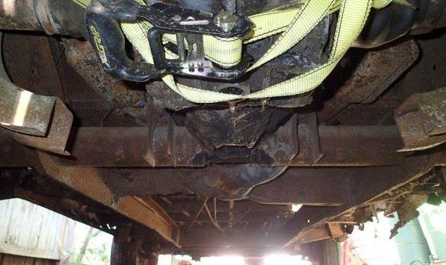 Split vw bus cradle Cut out